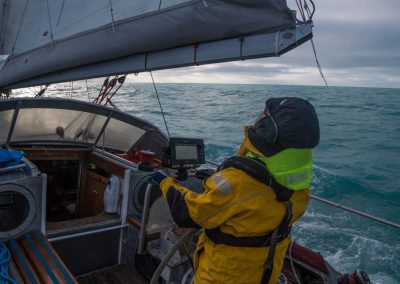 Contance at the helm in the Baring Sea_22.7.16