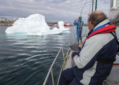 leaving-nuuk-with-iceberg-and-anchorage-with-eagles-quest-25-09