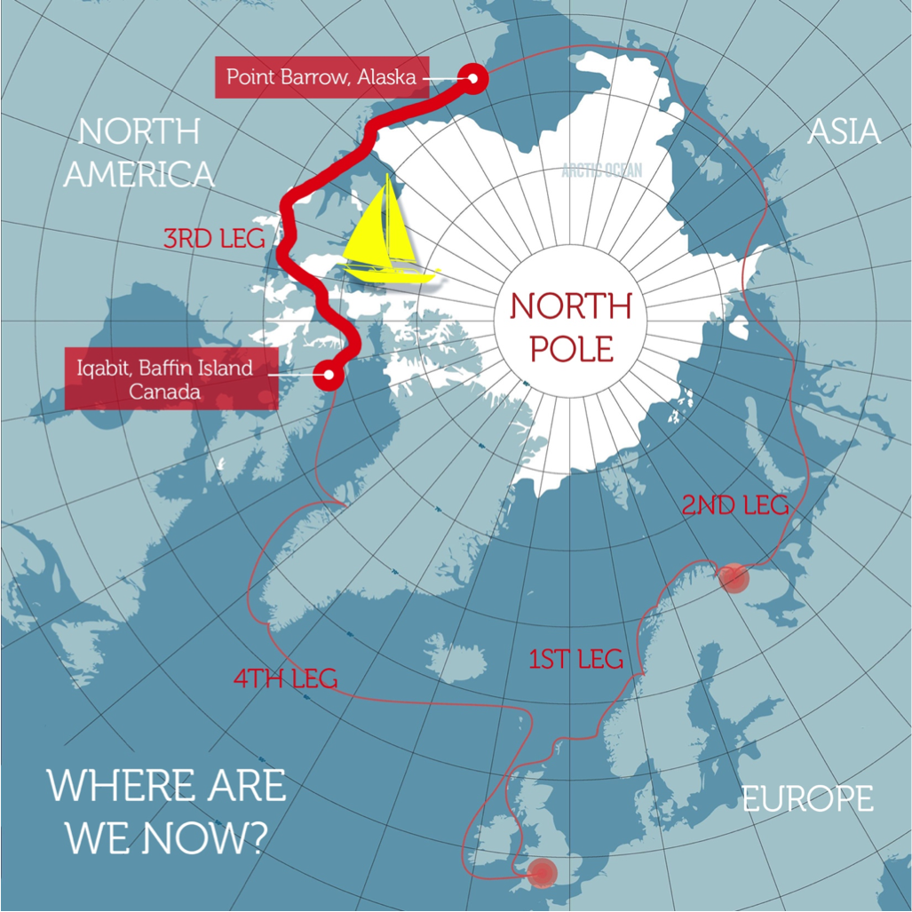 Polar Ocean Challenge route map leg 2