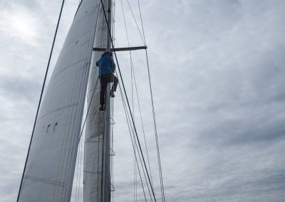 Digby climbs the mast June 17