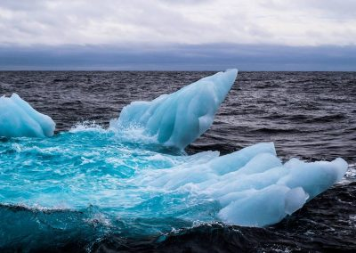 First encounter with iceberg