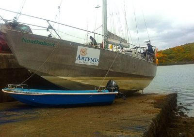 Northabout in dry dock 29 April 17