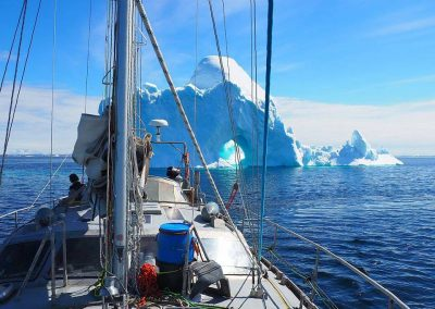 Sailing towards iceberg 8 june 17